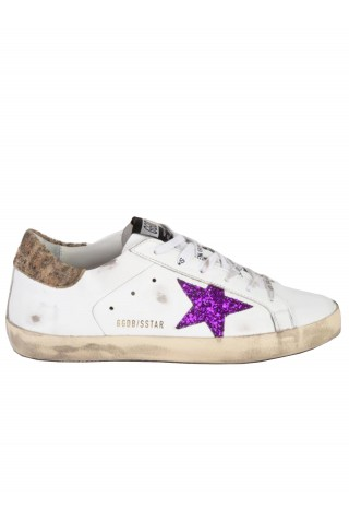 GOLDEN GOOSE GWF00101.F001890.10722 WHITE SUPERSTAR LEATHER SNEAKERS