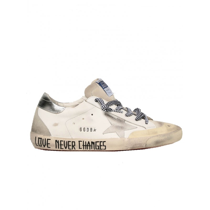 GOLDEN GOOSE GWF00175.F001947.10273 WHITE LEATHER SUPERSTAR SNEAKERS