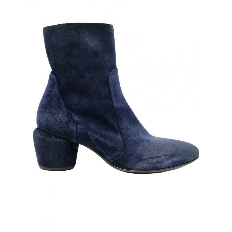 ELENA IACHI E2912 NAVY SUEDE ANKLE BOOTS