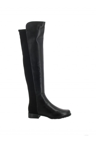 STUART WEITZMAN S3999 WOMEN'S BLACK LEATHER 5050 BOOTS