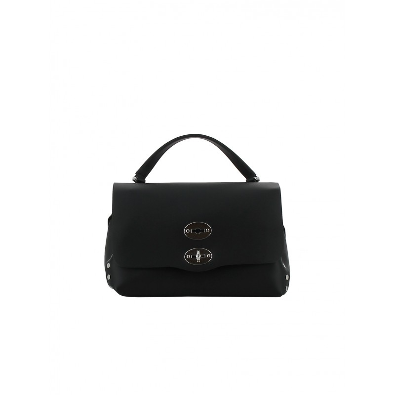 ZANELLATO 6138-51-02 WOMEN'S BLACK LEATHER HANDBAG