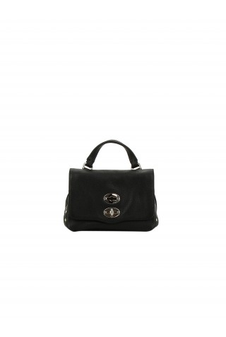 ZANELLATO 6262-18-02 WOMEN'S BLACK LEATHER SHOULDER BAG