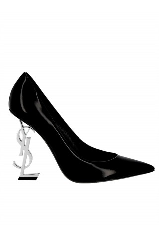 SAINT LAURENT 472011 D6CNN 1000 WOMEN'S BLACK 110 PATENT LEATHER OPYUM PUMPS