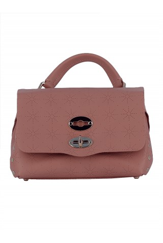 ZANELLATO 6263-67-43 WOMEN'S ARMADIO ROSA LEATHER HANDBAG