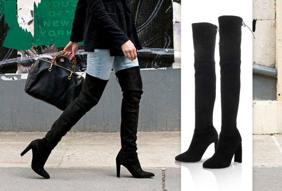 Thigh-high boots: from flat to heeled