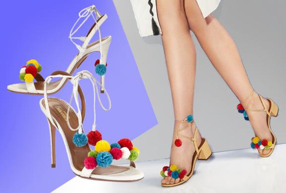 Aquazzura's new collection of sandals flats and heels